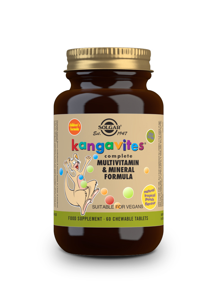 kangavites multi frutas tropicales 60 comprimidos masticables
